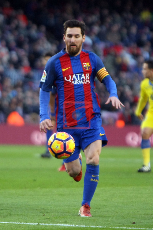 League Santander 2016/2017. Game: 18.<br /> FC Barcelona vs UD Las Palmas: 5-0.<br /> Lionel Messi.