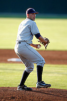August 13, 2009:  Pitcher Mitchell Clegg of the Vermont Lake Monsters delivers a pitch during a game at Dwyer Stadium in Batavia, NY.  The Lake Monsters are the Short-Season Class-A affiliate of the Washington Nationals.  Photo By Mike Janes/Four Seam Images