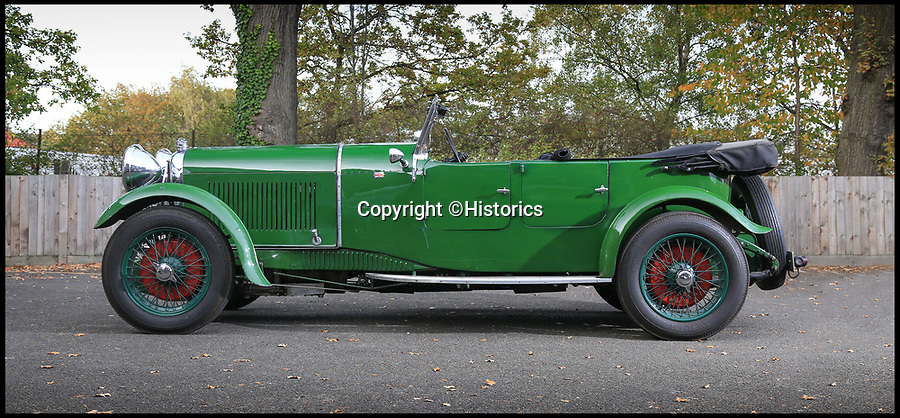 BNPS.co.uk (01202 558833)<br /> Pic: Historics/BNPS<br /> <br /> Impeccable pedigree - WW2 Fighter pilots racing Lagonda for sale.<br /> <br /> A classic car that was sold by a grieving father who believed his swashbuckling RAF pilot to be dead during World War Two, has emerged for sale for £92,000.<br /> <br /> The 1931 Lagonda Open Tourer first came into the possession of Wing Commander Paddy Barthropp, during the Second World War, when he swapped it with 400 gallons of 100-octane aviation fuel he had 'liberated' from RAF Hawkinge.<br /> <br /> In the early 1940s, whilst flying on missions over Germany and France, he was shot down and imprisoned with in Colditz Castle. <br /> <br /> His father, not hearing from him for some time, assumed he'd been killed and sold the car on his behalf.