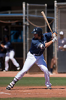 San Diego Padres first baseman Brad Zunica (25) at bat during an Extended Spring Training game against the Colorado Rockies at Peoria Sports Complex on March 30, 2018 in Peoria, Arizona. (Zachary Lucy/Four Seam Images)