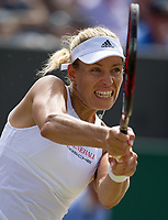 Angelique Kerber (1) of Germany in action against Shelby Rogers of United States in their Ladies' Singles Third Round Match today<br /> <br /> Photographer Ashley Western/CameraSport<br /> <br /> Wimbledon Lawn Tennis Championships - Day 6 - Saturday 8th July 2017 -  All England Lawn Tennis and Croquet Club - Wimbledon - London - England<br /> <br /> World Copyright &not;&copy; 2017 CameraSport. All rights reserved. 43 Linden Ave. Countesthorpe. Leicester. England. LE8 5PG - Tel: +44 (0) 116 277 4147 - admin@camerasport.com - www.camerasport.com