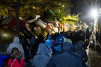 NEW YORK, NY – NOVEMBER 21: Hundreds of people visited the balloons of the annual Macy's Thanksgiving Day parade the night before the parade on November 21, 2018 in New York City. (Photo by Pablo Monsalve /VIEWPress)