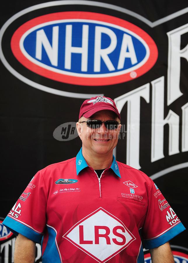 Nov. 2, 2008; Las Vegas, NV, USA: NHRA funny car driver Tim Wilkerson during the Las Vegas Nationals at The Strip in Las Vegas. Mandatory Credit: Mark J. Rebilas-