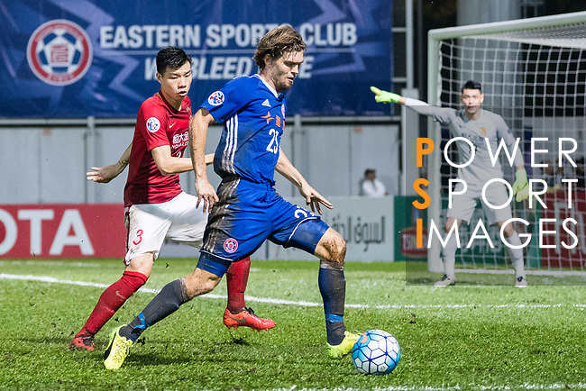 Eastern SC Forward Jaimes Mckee in action during the AFC Champions League 2017 Group G match between Eastern SC (HKG) vs Guangzhou Evergrande FC (CHN) at the Mongkok Stadium on 25 April 2017, in Hong Kong, China. Photo by Chung Yan Man / Power Sport Images