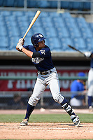 Desmond Lindsay (3) of Out-of-Door Academy in Bradenton, Florida playing for the Tampa Bay Rays scout team during the East Coast Pro Showcase on August 2, 2014 at NBT Bank Stadium in Syracuse, New York.  (Mike Janes/Four Seam Images)