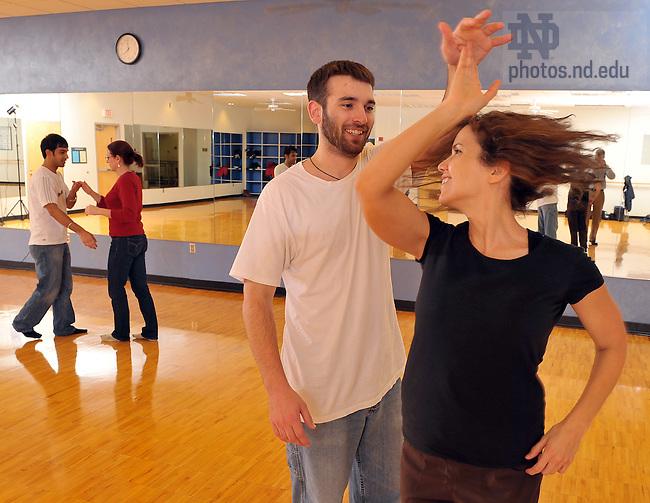 Latin Dance Class at RSRC..Photo by Matt Cashore/University of Notre Dame