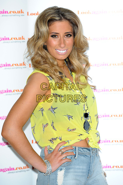 LONDON, UK - FEBRUARY 26 - Stacey Solomon.<br />