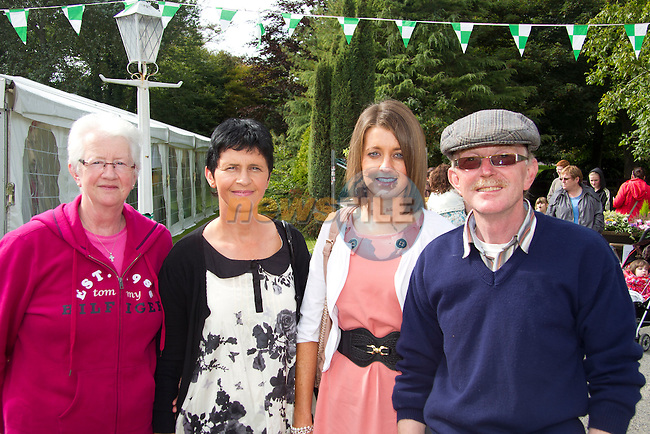 Margaret Mulroy, Paula Mulroy, Jane Mulroy and Paddy McHugh at the Heritage and Harvest festival..Picture: Shane Maguire / www.newsfile.ie.