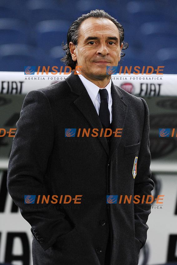 Cesare Prandelli, allenatore della nazionale di calcio italiana..Roma 15/11/2011 Stadio Olimpico .Football Calcio .Italia Vs Uruguay Friendly Match .Foto Insidefoto