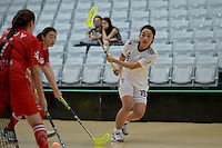 Korea&rsquo;s Younyoung Shin in action during the World Floorball Championships 2017 Qualification for Asia Oceania Region - Korea v China at ASB Sports Centre , Wellington, New Zealand on Saturday 4 February 2017.<br /> Photo by Masanori Udagawa<br /> www.photowellington.photoshelter.com.