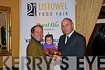 Kerry Food Hero Award:Thomas Hayes, CEO of Kerry County Enterprise Board presenting the Kerry Food Hero Award to Kieran Murphy with daughter Roisin of Murphy's Ice Cream, Dingle at the Listowel Food Fair Awards presentation ceremony at the Listowel Arms Hotel on Friday night last.