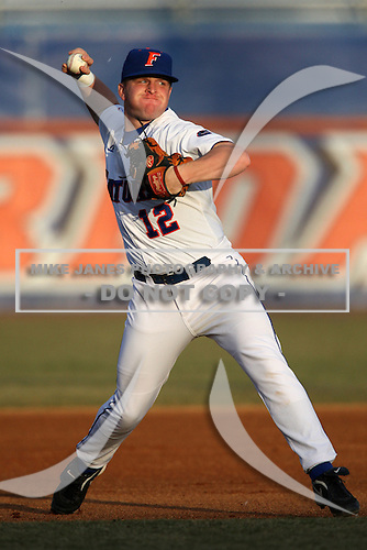 March 9, 2010:  Third Baseman Jerico Weitzel (12) of the Florida Gators during a game at McKethan Stadium in Gainesville, FL.  Photo By Mike Janes/Four Seam Images