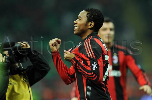 12 02 2011  Robinho Milan After his Goal for 3 0 Milan Stadio Meazza AC Milan versus Parma  Campionato Italiano Series A 2010 2011
