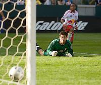 Danny Cepero watches a Alejandro Moreno shot roll into goal, MLS Cup 2008, Columbus Crew vs New York Red Bull, Sunday, November 23, 2008.