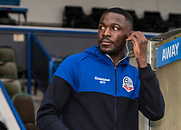 Bolton Wanderers' Toto Nsiala pictured before the match  <br /> <br /> Photographer Andrew Kearns/CameraSport<br /> <br /> The EFL Sky Bet League One - Rochdale v Bolton Wanderers - Saturday 11th January 2020 - Spotland Stadium - Rochdale<br /> <br /> World Copyright © 2020 CameraSport. All rights reserved. 43 Linden Ave. Countesthorpe. Leicester. England. LE8 5PG - Tel: +44 (0) 116 277 4147 - admin@camerasport.com - www.camerasport.com