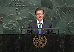 72 General Debate – 20 September <br /> <br /> His Excellency Moon Jae-in, President of the Republic of Korea