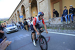 Adam James Hansen (AUS) Lotto-Soudal on the San Luca climb during Stage 1 of the 2019 Giro d'Italia, an individual time trial running 8km from Bologna to the Sanctuary of San Luca, Bologna, Italy. 11th May 2019.<br /> Picture: Eoin Clarke | Cyclefile<br /> <br /> All photos usage must carry mandatory copyright credit (© Cyclefile | Eoin Clarke)