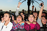 Fans cheer while Justin Bieber performs a free holiday concert at Citadel Outlets in Los Angeles, California on December 14,2009                                                                   Copyright 2009 DVS / RockinExposures