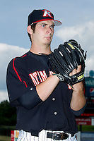 Kannapolis Intimidators pitcher Tyler Danish (37) poses for a photo prior to the South Atlantic League game against the Rome Braves at CMC-Northeast Stadium on August 25, 2013 in Kannapolis, North Carolina.  The Intimidators defeated the Braves 9-0.  (Brian Westerholt/Four Seam Images)