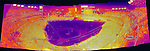 May 28, 2016 - A thermographic composite image of the 38,274 fans attending a game between the St. Louis Cardinals and the Washington Nationals at Nationals Park in Washington, DC. Higher levels of exothermic heat appears bright yellow, while lower levels are a deeper purple. #mlb #nats #ibackthenats #baseballislife #baseballamerica . The Cardinals defeated the Nationals 9-4 to take a 2-games to 1 lead in their 4-game series. Mandatory Credit: Ed Wolfstein Photo