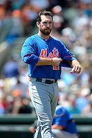 New York Mets first baseman Ike Davis #29 during a Spring Training game against the Baltimore Orioles at Ed Smith Stadium on March 30, 2013 in Sarasota, Florida.  (Mike Janes/Four Seam Images)