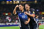 (L to R)<br /> Shinji Kagawa, <br /> Shinji Okazaki (JPN), <br /> MARCH 29, 2016 - Football / Soccer : <br /> FIFA World Cup Russia 2018 Asian Qualifier <br /> Second Round Group E match <br /> between Japan - Syria <br /> at Saitama Stadium 2002, Saitama, Japan. <br /> (Photo by YUTAKA/AFLO SPORT)