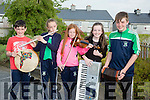 Jack Doyle, Sarah Barrett, Alva Daly, Ciara Rath and Tadhg Reen at Na Gaeil's Got Talent at Scoil Mhic Easmainn on Saturday