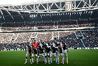 Calcio, Serie A: Juventus - Cagliari, Turin, Allianz Stadium, January 6, 2020.<br /> Juventus' players pose for the pre match photograph prior to the Italian Serie A football match between Juventus and Cagliari at Torino's Allianz stadium, on January 6, 2020.<br /> UPDATE IMAGES PRESS/Isabella Bonotto