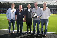 Match ball sponsors  prior to kick off of the Premier League match between Swansea City and Manchester United at The Liberty Stadium, Swansea, Wales, UK. Saturday 18 August 2017