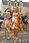 St Patricks Day Parade, Listowel: Taking part in the Listowel St.Patrick's Day parade in Listowel were Celtic Tiger figures.