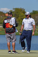 Pat Perez (USA) after sinking his birdie putt on 6 during round 1 of the Arnold Palmer Invitational at Bay Hill Golf Club, Bay Hill, Florida. 3/7/2019.<br /> Picture: Golffile | Ken Murray<br /> <br /> <br /> All photo usage must carry mandatory copyright credit (© Golffile | Ken Murray)