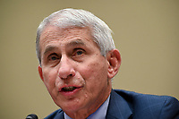 Anthony Fauci, director of the National Institute of Allergy and Infectious Diseases, during a House Select Subcommittee on the Coronavirus Crisis hearing in Washington, D.C., U.S., on Friday, July 31, 2020. Trump administration officials are set to defend the federal government's response to the coronavirus crisis at the hearing hosted by a House panel calling for a national plan to contain the virus.<br /> Credit: Erin Scott / Pool via CNP /MediaPunch