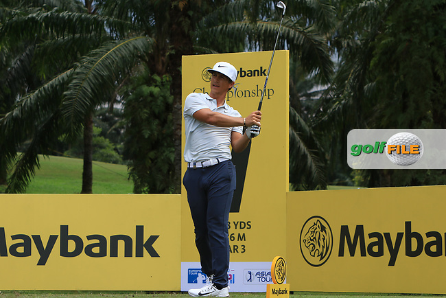 Thorbjorn Olesen (DEN) in action on the 7th during Round 1 of the Maybank Championship at the Saujana Golf and Country Club in Kuala Lumpur on Thursday 1st February 2018.<br /> Picture:  Thos Caffrey / www.golffile.ie<br /> <br /> All photo usage must carry mandatory copyright credit (© Golffile | Thos Caffrey)