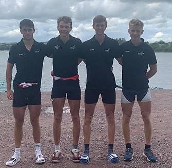 Lightweight Men's Quadruple Sculls (BLM4x)  Will Ronayne (UCC) Hugh Sutton (UCC)  Hugh Moore (Queens) Eoin Gaffney (Shandon)