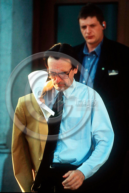NEUFCHATEAU - BELGIUM - 15 OCTOBER 1996--The judge Jean-Marc CONNEROTTE, the investigating magistrate in the Dutroux case after his removal from the case. --PHOTO: EUP-IMAGES..