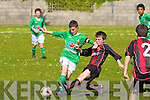 Kingdom Boys Ferdia O'Brien and St Brendan's Park's Karl Mullins.