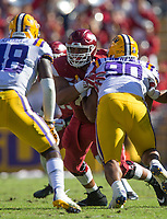 NWA Democrat-Gazette/BEN GOFF @NWABENGOFF<br /> Arkansas vs LSU football Saturday, Nov. 11, 2017 at Tiger Stadium in Baton Rouge, La.