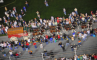 Feb 9, 2008; Daytona, FL, USA; The Budweiser Clydesdales march on the track prior to the Nascar Sprint Cup series Bud Shootout at Daytona International Speedway. Mandatory Credit: Mark J. Rebilas-US PRESSWIRE