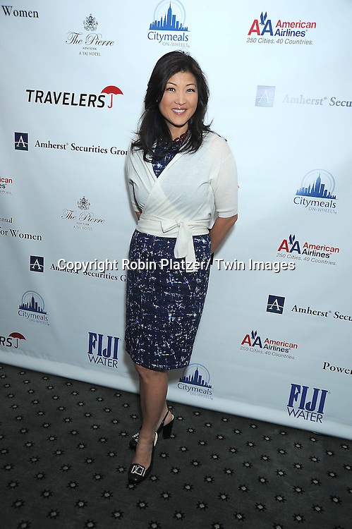 Juju Chang posing for photographers at The 24th Annual Citymeals-on-Wheels Power Lunch for Women on November 12, 2010 at The Pierre Hotel in New York City.