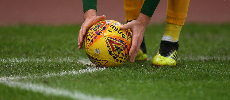 Preston North End's Paul Gallagher positions the ball for a corner kick<br /> <br /> Photographer Stephen White/CameraSport<br /> <br /> The EFL Sky Bet Championship - Stoke City v Preston North End - Saturday 26th January 2019 - bet365 Stadium - Stoke-on-Trent<br /> <br /> World Copyright © 2019 CameraSport. All rights reserved. 43 Linden Ave. Countesthorpe. Leicester. England. LE8 5PG - Tel: +44 (0) 116 277 4147 - admin@camerasport.com - www.camerasport.com