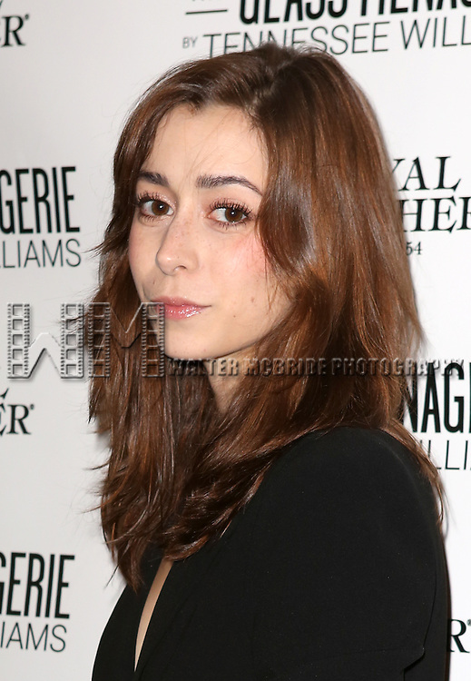 Cristin Milioti  attends the Broadway Opening Night Performance of 'The Glass Menagerie' at the Booth Theatre in New York City on September 16, 2013.