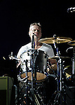 PASADENA, CA. - October 25: Drummer Larry Mullen, Jr. of U2  performs in concert during their 360º Tour at the Rose Bowl on October 25, 2009 in Pasadena, California.