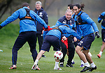 Ian Black tripped by Jon Daly as Mohsni and McCoist steam in