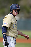 February 27, 2010:  Dom Hayes of West Virginia Mountaineers during the Big East/Big 10 Challenge at Raymond Naimoli Complex in St. Petersburg, FL.  Photo By Mike Janes/Four Seam Images