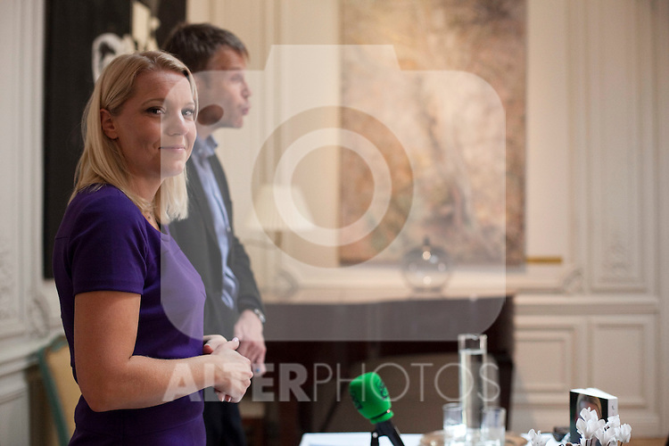 """Swede writer and journalist Carina Bergfeldt during the official presentation of her new book """"Matar a papa"""" in the Swedish Embassy in Madrid, Spain. October 29, 2013. (ALTERPHOTOS/Victor Blanco)"""