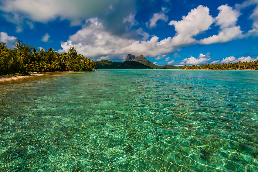 Haapiti Motu (a small private island) off Bora Bora, Society Islands, French Polynesia.