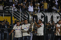 SAO PAULO, SP, 25 DE MAIO 2013 - CAMP BRASILEIRO - Ex jogadores do Corinthians exisbem taca durante partida contra Botafogo valido para pimeira rodada do Campeonato Brasileiro no Estadio do Pacaembu neste sabado, 25 FOTO VANESSA CARVALHO- BRAZIL PHOTO PRESS