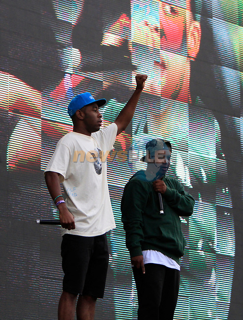 Earlwolf on stage at Slane Concert with Eminem 2013 on Saturday 17th August 2013 <br /> Picture:  Thos Caffrey / www.newsfile.ie
