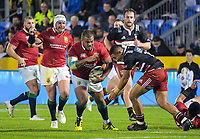 Luteru Laulala tries to stop Kyle Sinkler as Rory Best runs in support during the 2017 DHL Lions Series rugby union match between the NZ Provincial Barbarians and British & Irish Lions at Toll Stadium in Whangarei, New Zealand on Saturday, 3 June 2017. Photo: Dave Lintott / lintottphoto.co.nz