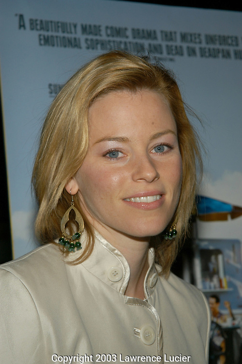 NEW YORK - SEPTEMBER 30:  Actress Elizabeth Banks arrives September 30, 2003, at the after party for a special screening of The Station Agent at Walter Reade Theater in New York City.